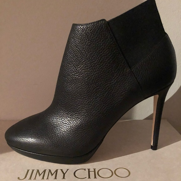 Jimmy choo Woman Textured-leather Boots Size 36.5 wtng4Z